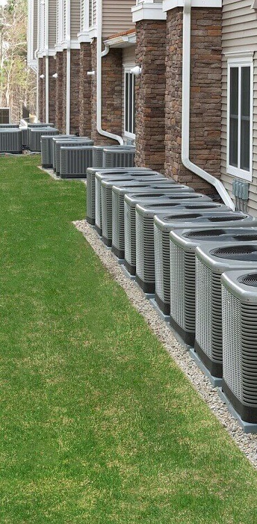 Multi-family Homes with HVAC units sitting outside