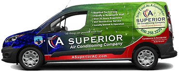 A Superior Air Conditioning Company Vehicle